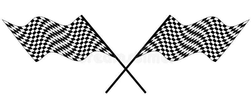 Verific competindo a bandeira ilustração royalty free