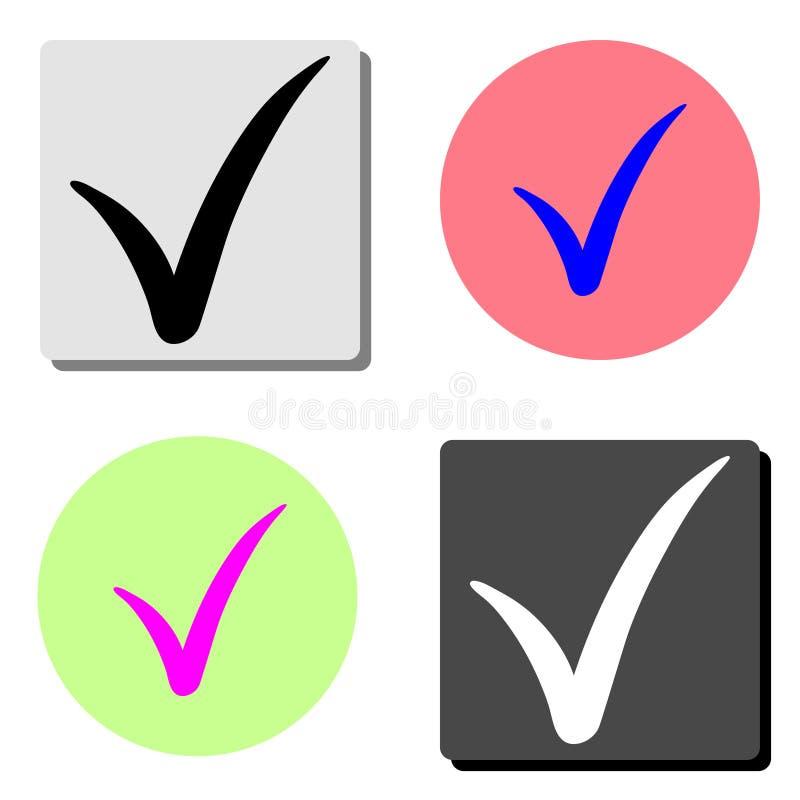 verificação Ícone liso do vetor ilustração do vetor