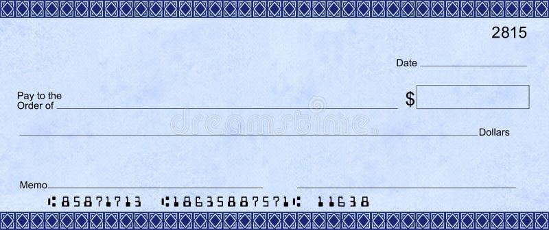Download Verificação Azul De Deco Com Números De Cliente Falsos Ilustração Stock - Ilustração de verificação, donation: 12812234