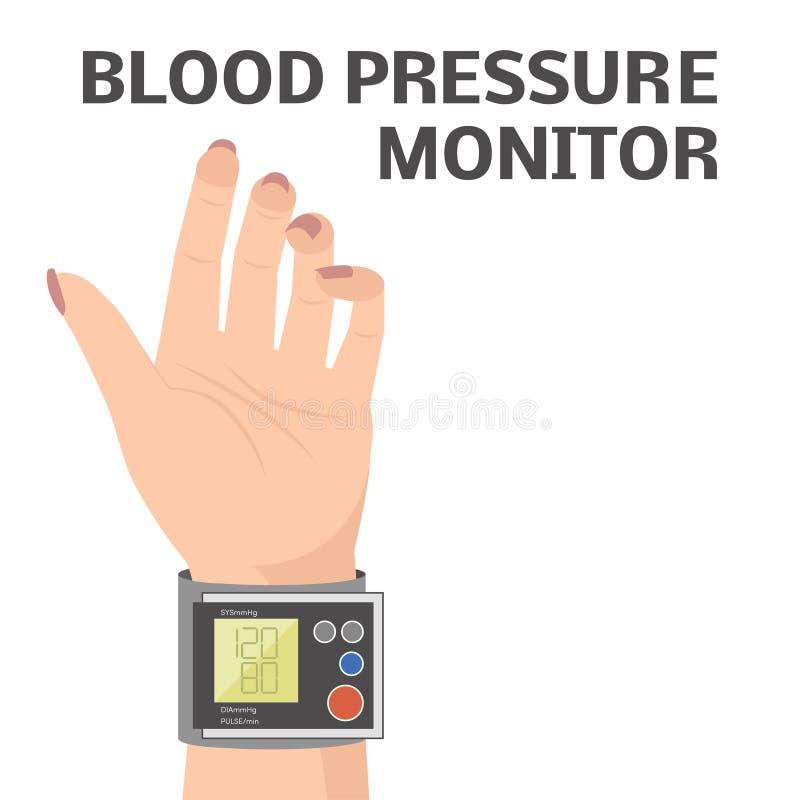 Verificação de pressão sanguínea ilustração stock