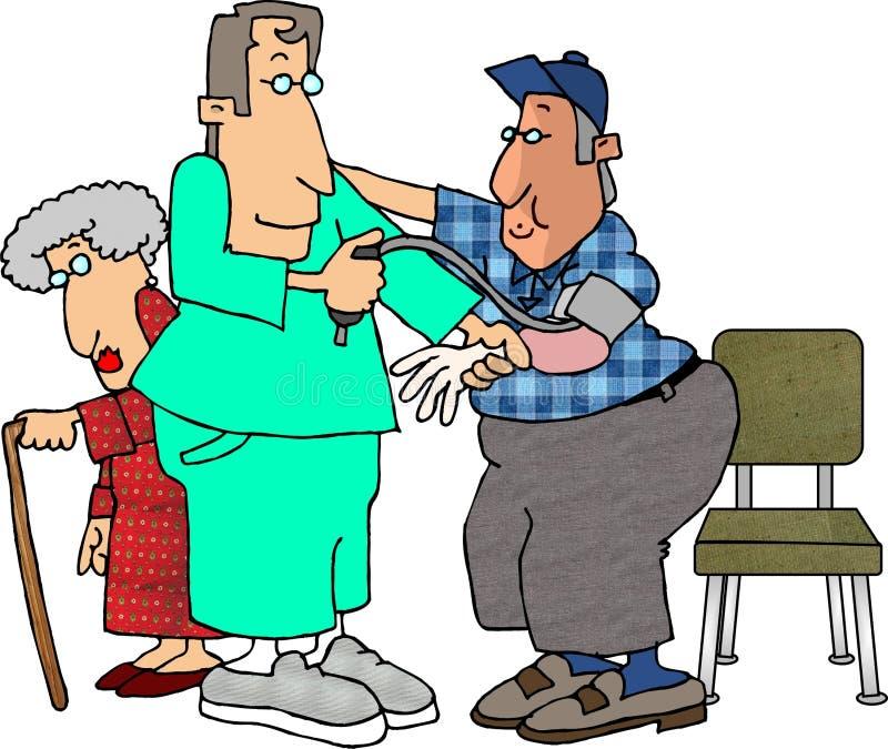 Verificação de pressão sanguínea ilustração do vetor