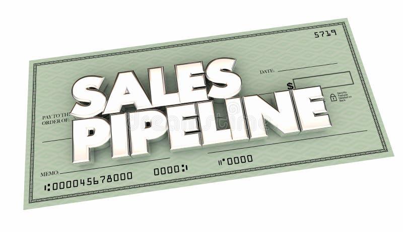 A verificação do encanamento das vendas que vende perspectivas faz o dinheiro ilustração royalty free