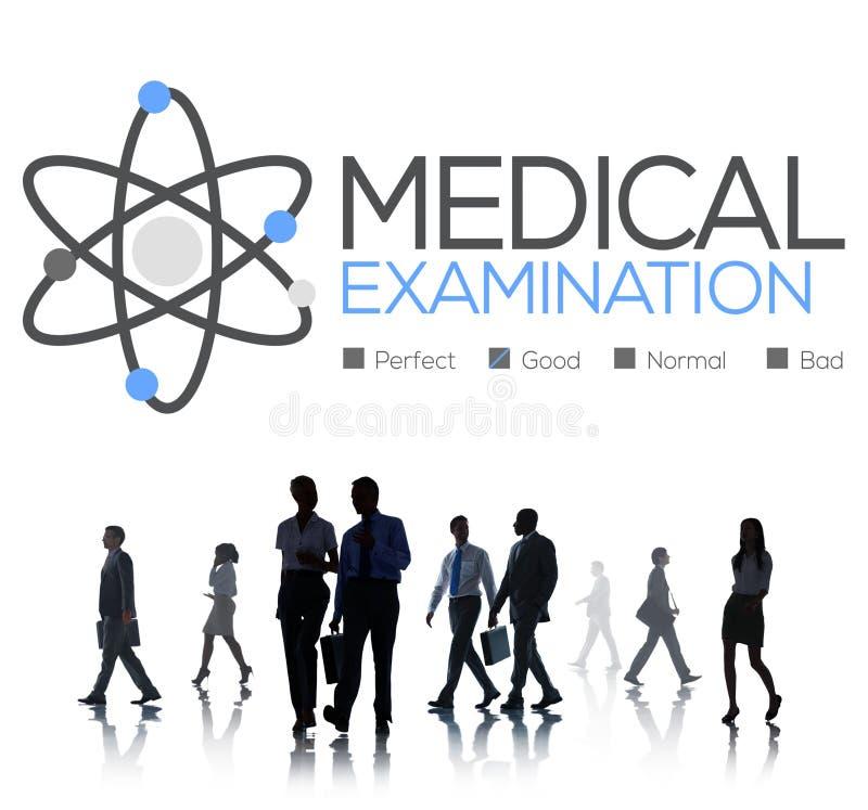 Verificação do exame médico acima do conceito do bem-estar do diagnóstico imagem de stock royalty free