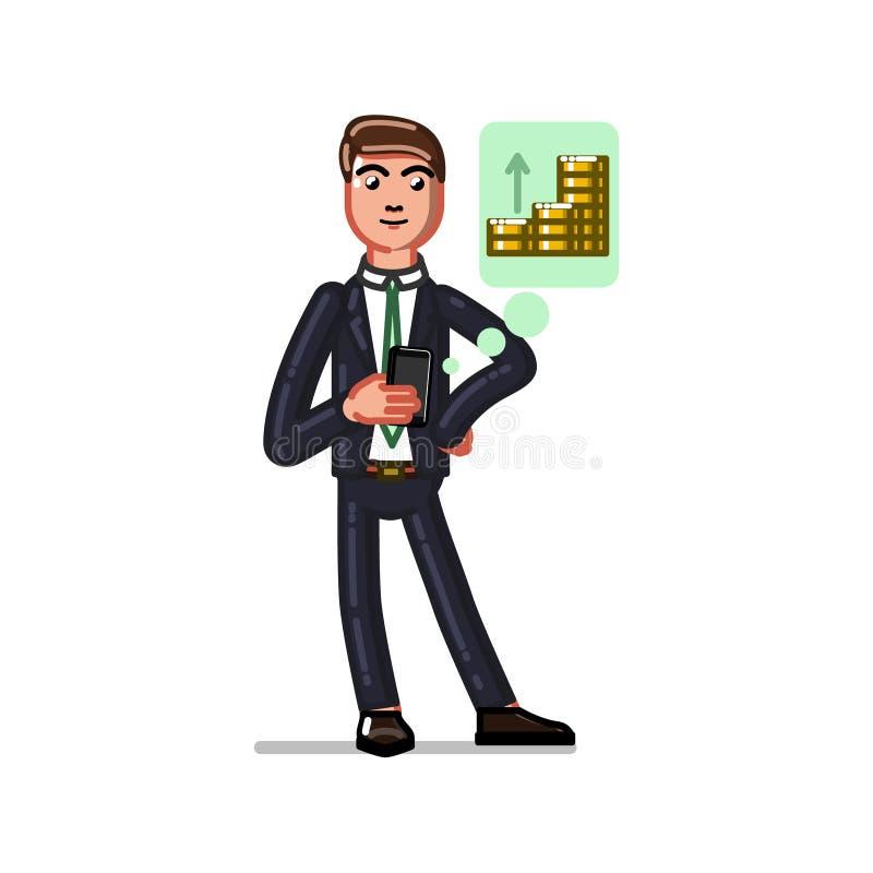 Verificação do homem de negócio ilustração royalty free
