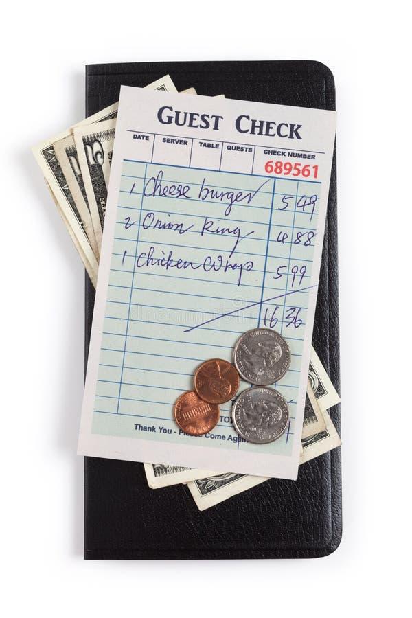 Verificação e dólar do convidado imagens de stock royalty free
