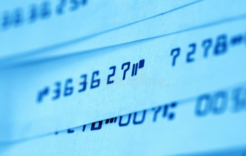 Verificações de banco foto de stock