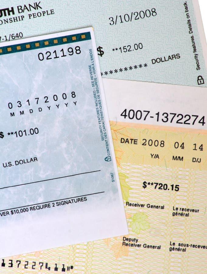Verificações de banco comercial.