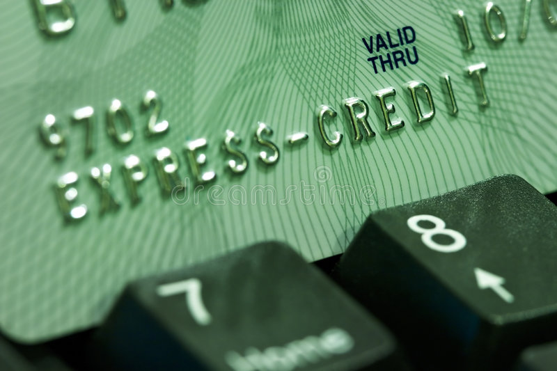 Verifica della carta di credito immagini stock