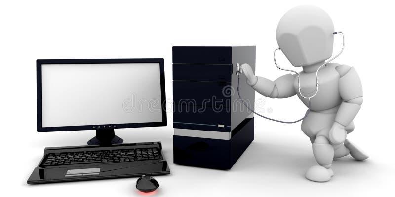 Verificación de salud del ordenador stock de ilustración