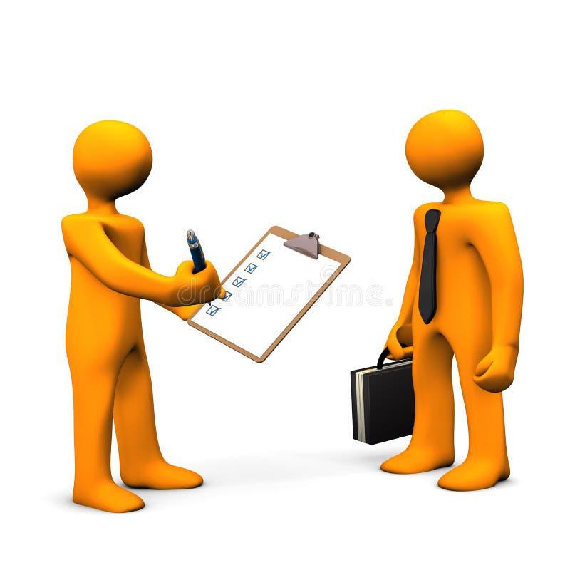 Verificación del empleado libre illustration