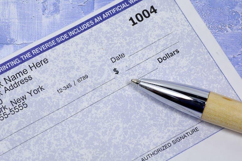 Download Verificación En Blanco Del Asunto Imagen de archivo - Imagen de pluma, banking: 75507