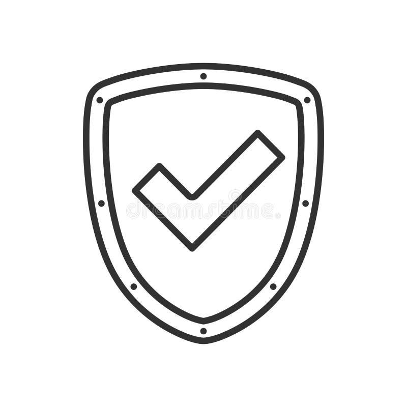 Verificado autorizado esboce o protetor liso ilustração do vetor