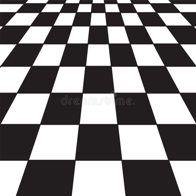 Verificador preto e branco ilustração do vetor