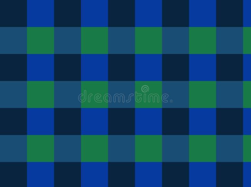 Verificadores do fundo de cores verdes, escuras, azuis! ilustração royalty free