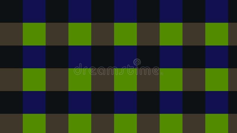 Verificadores do fundo do verde, obscuridade - cores azuis! ilustração do vetor