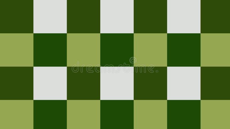 Verificadores do fundo do verde, obscuridade - verde, cores brancas! ilustração do vetor