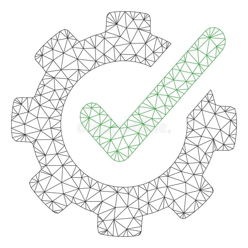 Verificando o vetor poligonal Mesh Illustration do quadro de Asistance ilustração do vetor