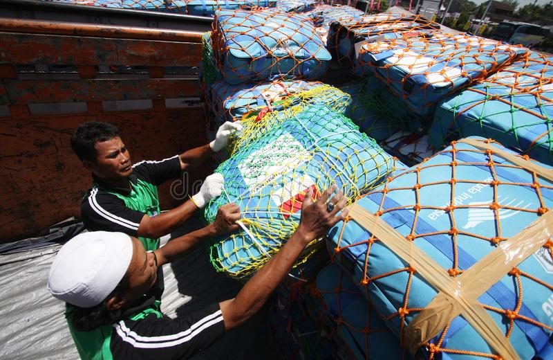 Verificando sacos do Haj foto de stock royalty free