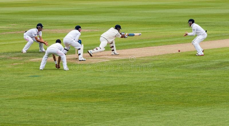 Verifichi la partita del cricket fotografia stock