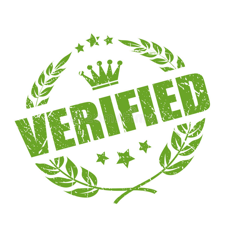 Verified business stamp royalty free illustration