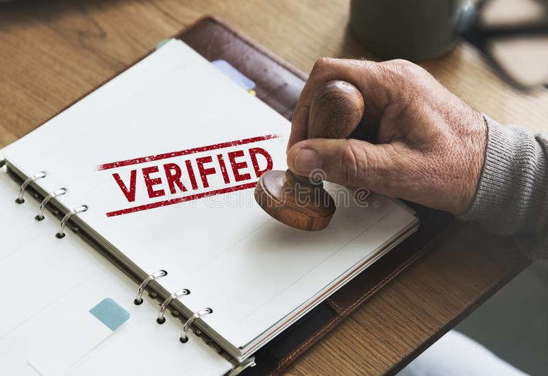Verified Certified Affirm Authorised Approve Concept stock photos