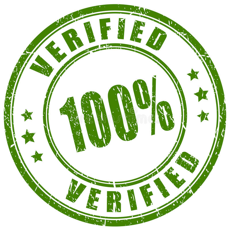 Verified rubber stamp royalty free illustration