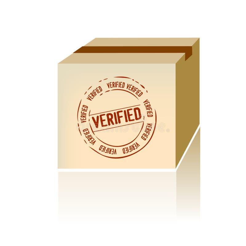 Download Verified Shipping Box Vector Stock Vector - Image: 9443719