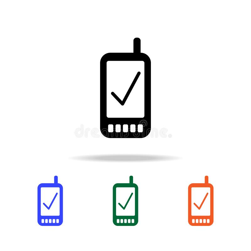 Verified smart phone icon. Elements of simple web icon in multi color. Premium quality graphic design icon. Simple icon for. Websites, web design, mobile app vector illustration