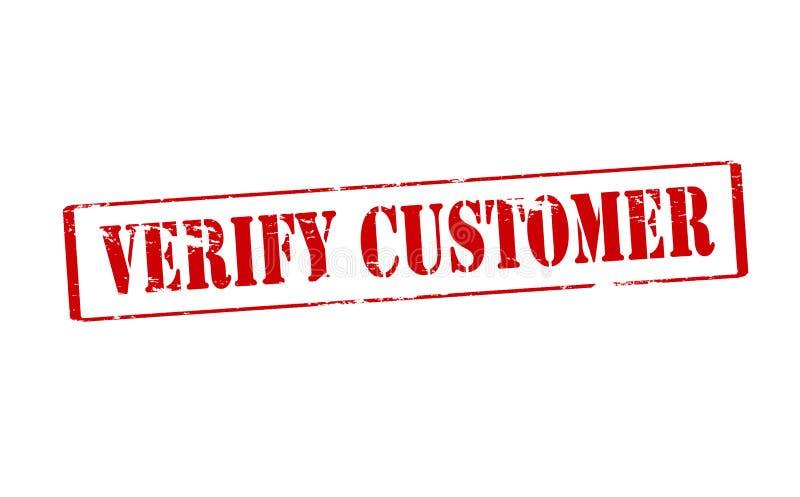 Verifieer klant royalty-vrije illustratie