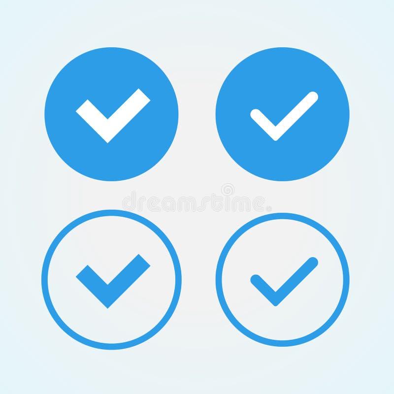 Verifiera-emblem stock illustrationer