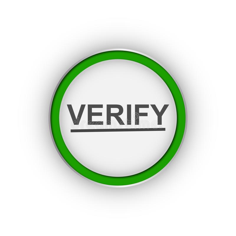Verifiera symbolet vektor illustrationer
