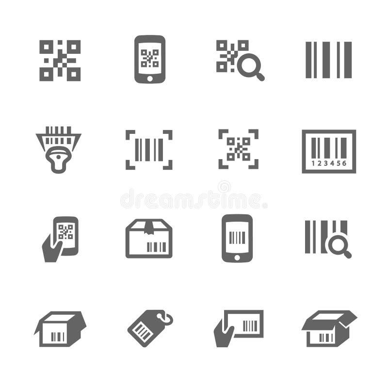 Verifique ícones do código ilustração do vetor