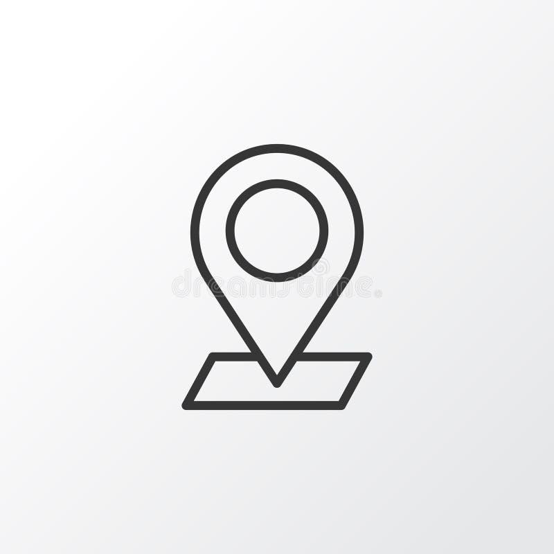 Verifique dentro o símbolo do ícone Qualidade superior elemento pontual isolado no estilo na moda ilustração stock