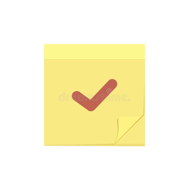 Verifique o ícone da tarefa da nota da mensagem da marca do comentário ilustração do vetor