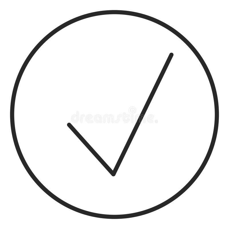 Verifique o ícone do curso, ilustração do logotipo Símbolo de alta qualidade do curso ilustração royalty free