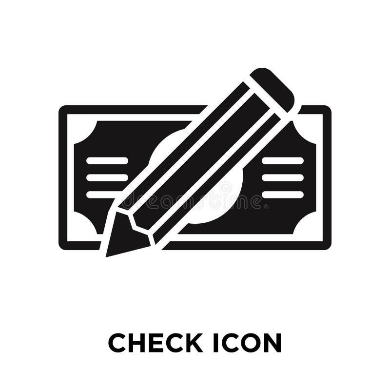 Verifique o vetor do ícone isolado no fundo branco, conceito do logotipo de ilustração stock