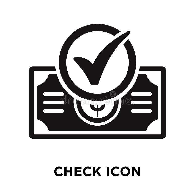 Verifique o vetor do ícone isolado no fundo branco, conceito do logotipo de ilustração do vetor