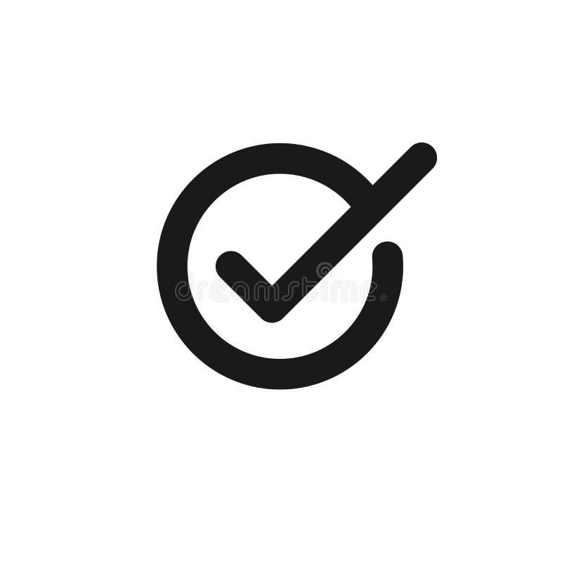 Verifique o vetor do ?cone ?cone da marca de verifica??o ilustração stock