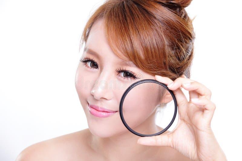 Verifique sua pele da saúde fotos de stock