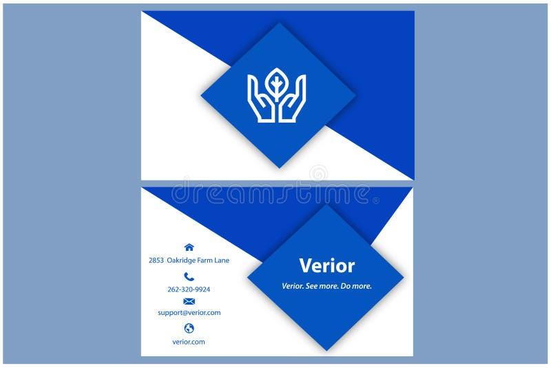 Verior名片模板,干净的设计 库存图片