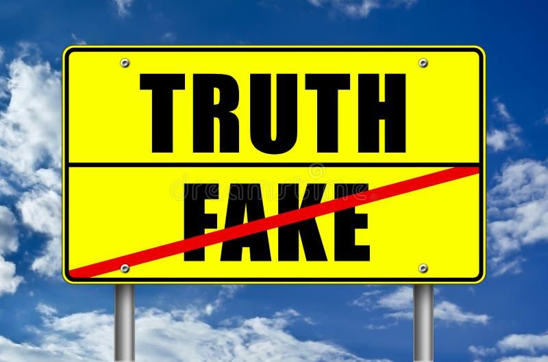 Verità o falsificazione illustrazione di stock