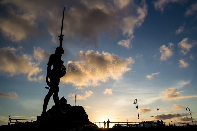 Verity - standbeeld in Ilfracombe van de auteur Damien Hirst royalty-vrije stock afbeeldingen