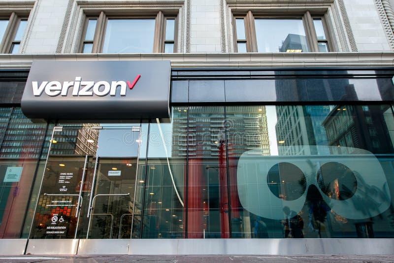 Verizon lager i Boston royaltyfri bild