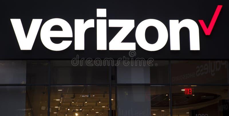 Verizon store royalty free stock photo