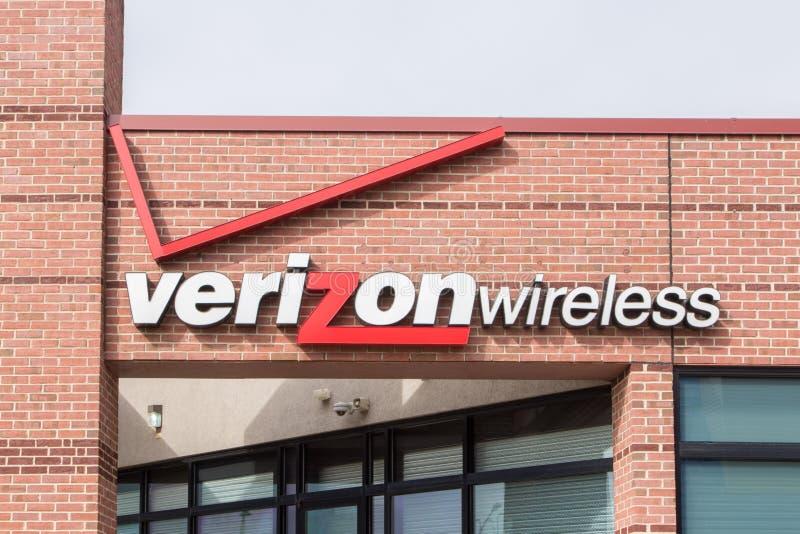 Verizon Wireless detaljist royaltyfri fotografi