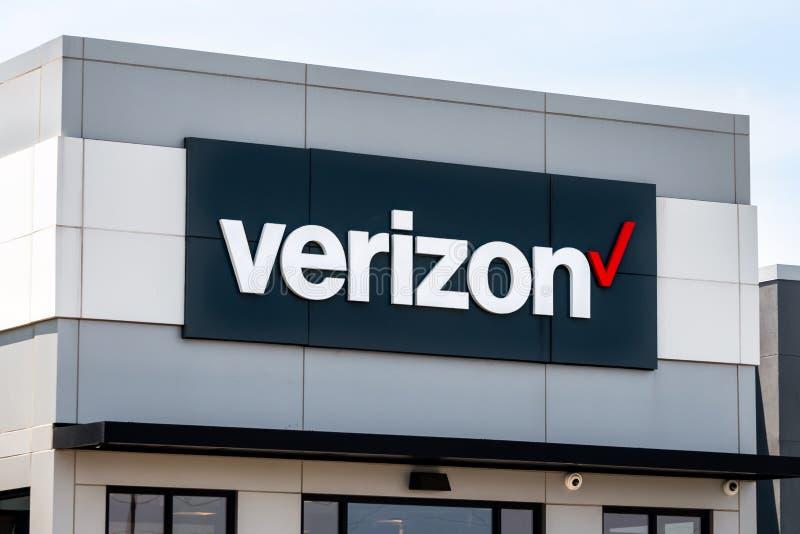 Verizon Wireless detaljistyttersida arkivbilder