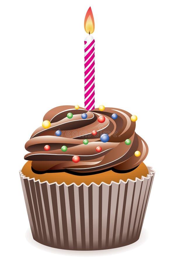 Verjaardag cupcake stock illustratie