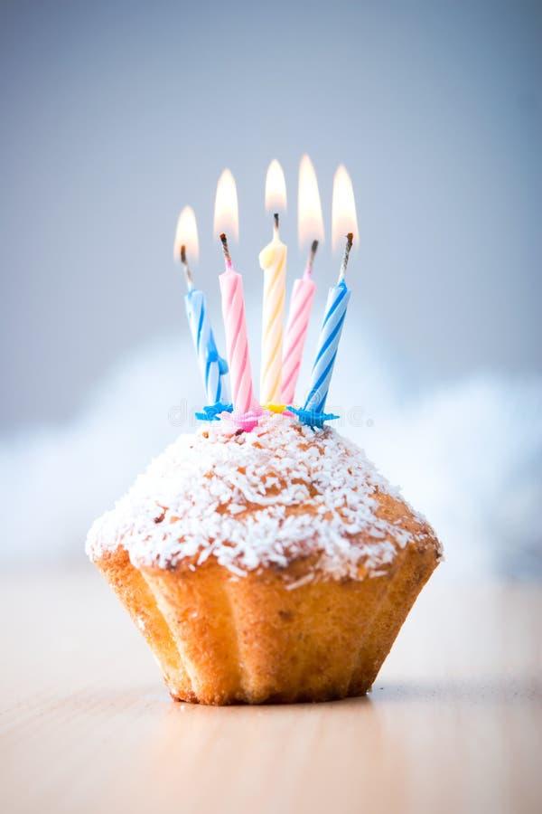 Verjaardag cupcake royalty-vrije stock fotografie