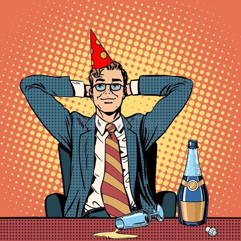 Verjaardag in het bureau vector illustratie