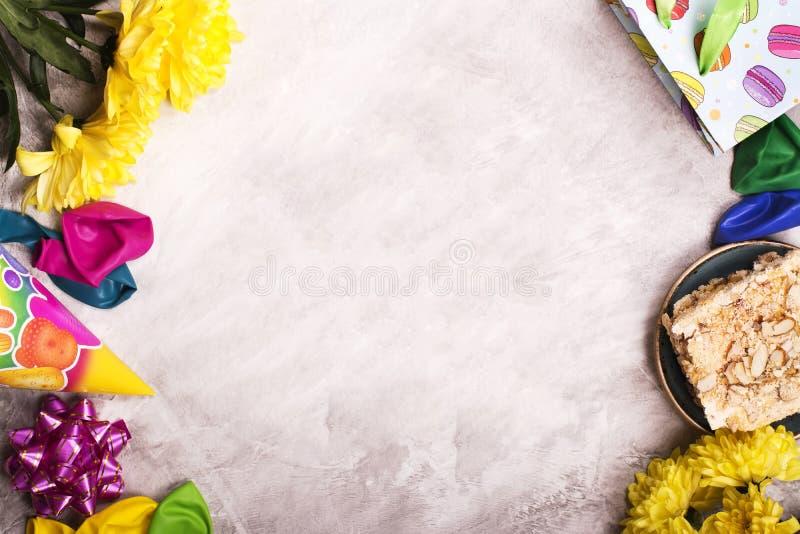 Verjaardagsachtergrond, hoogste mening Gestemd beeld royalty-vrije stock afbeelding
